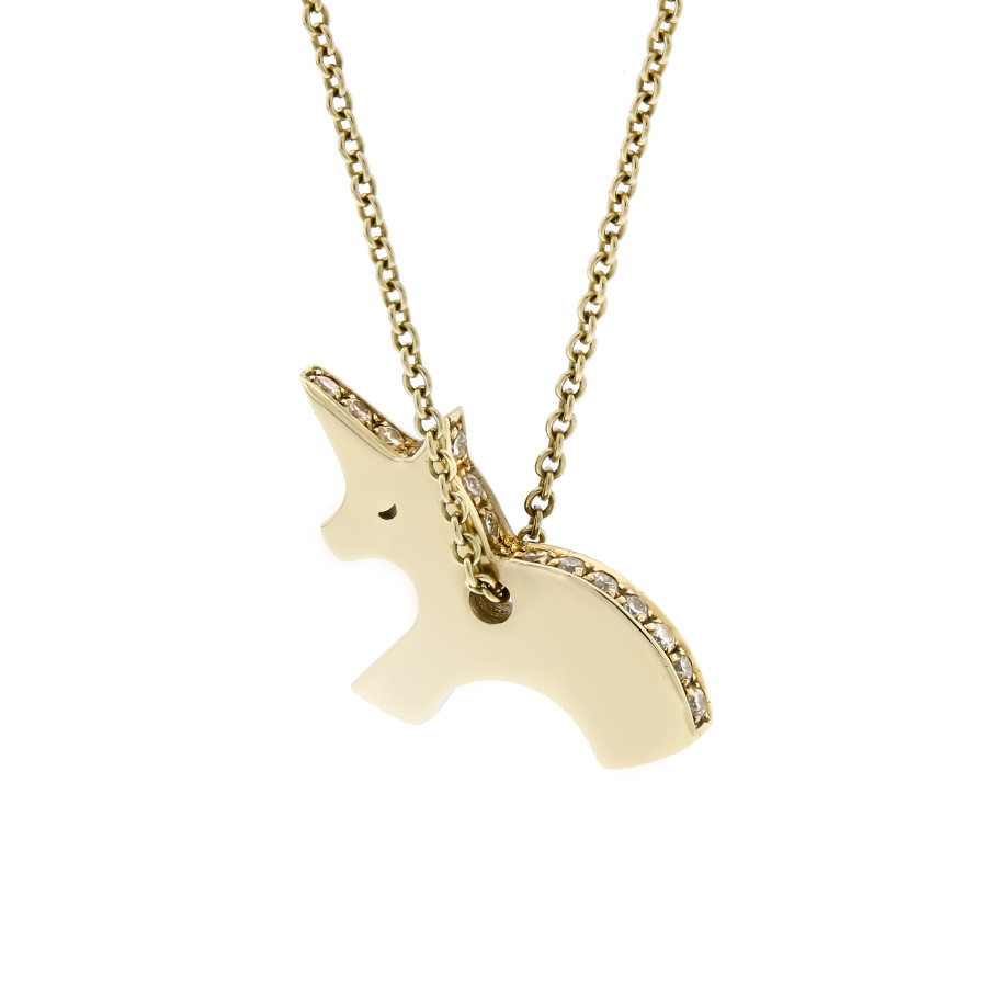 letter friends loading bf gifts is pendant chain necklace best unicorn image magic itm jewelry