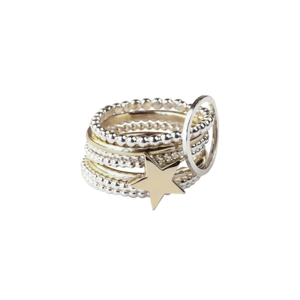 The Gold Star Stacking Ring
