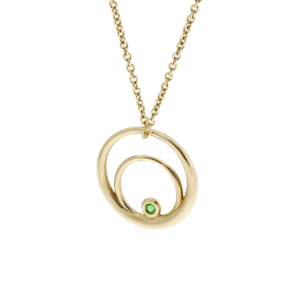 Single Rose Curve Necklace
