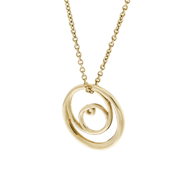 Double Rose Curve Necklace