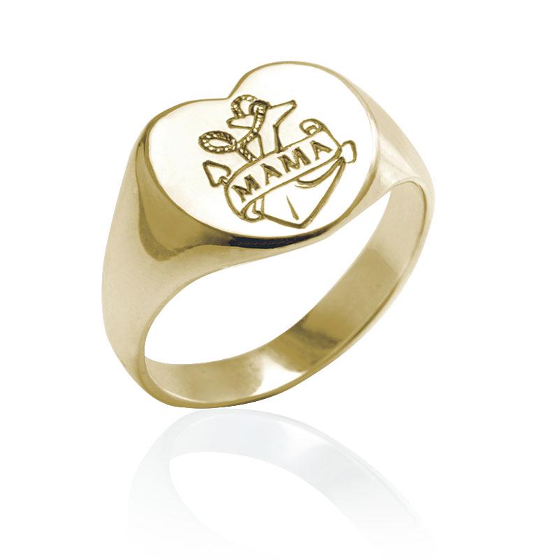 mama ring gold