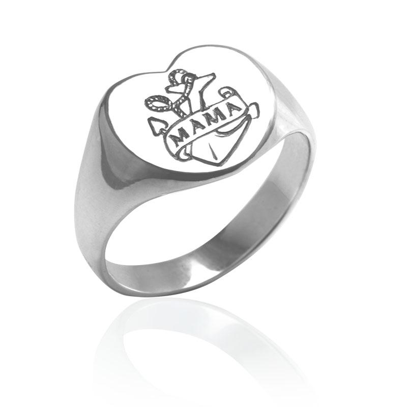 silver mama ring
