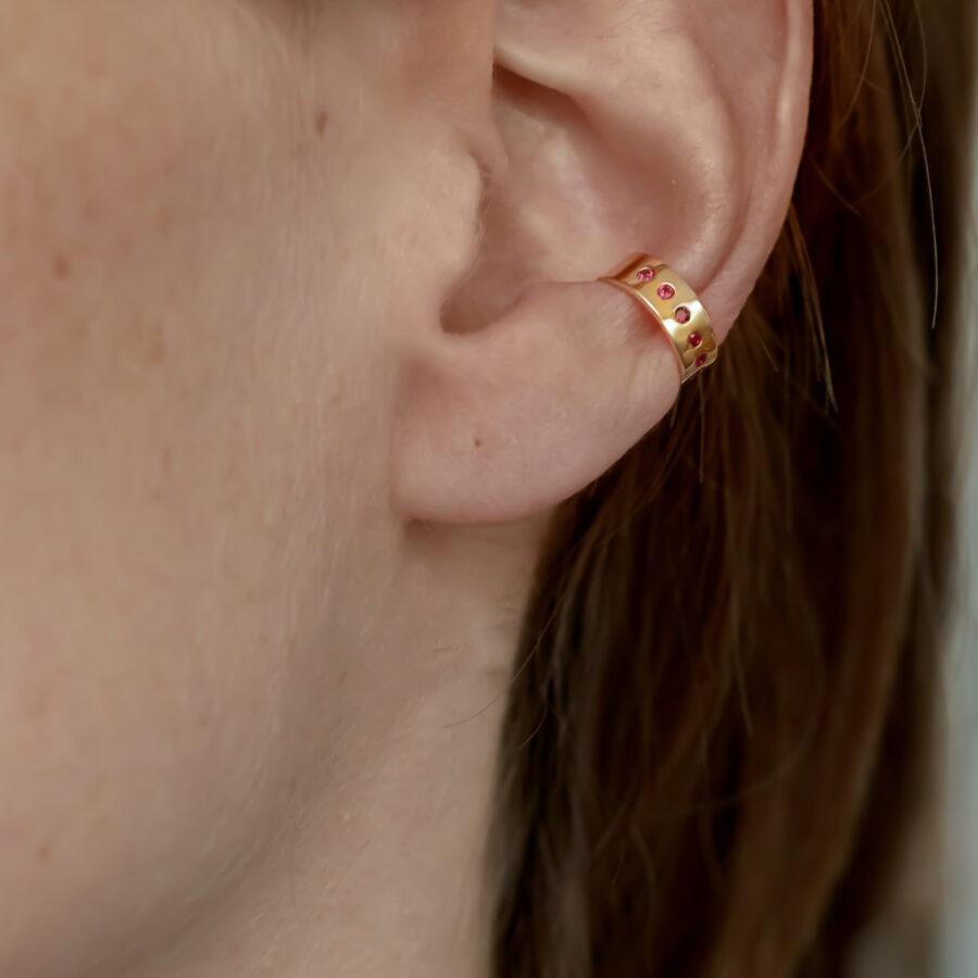 The Ruby Ear Cuff