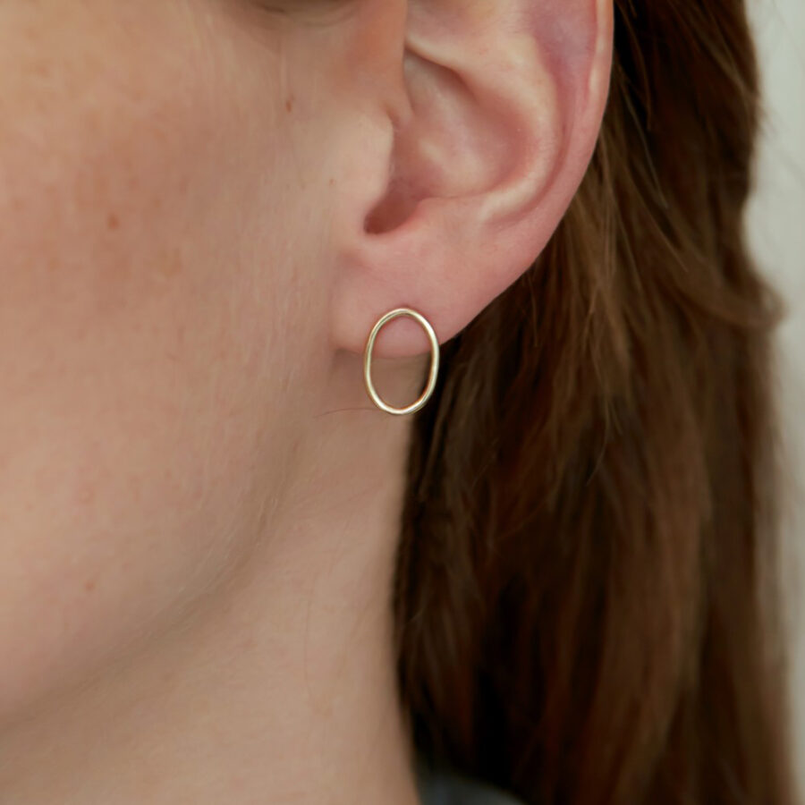 The Solid Gold Hoop Earring