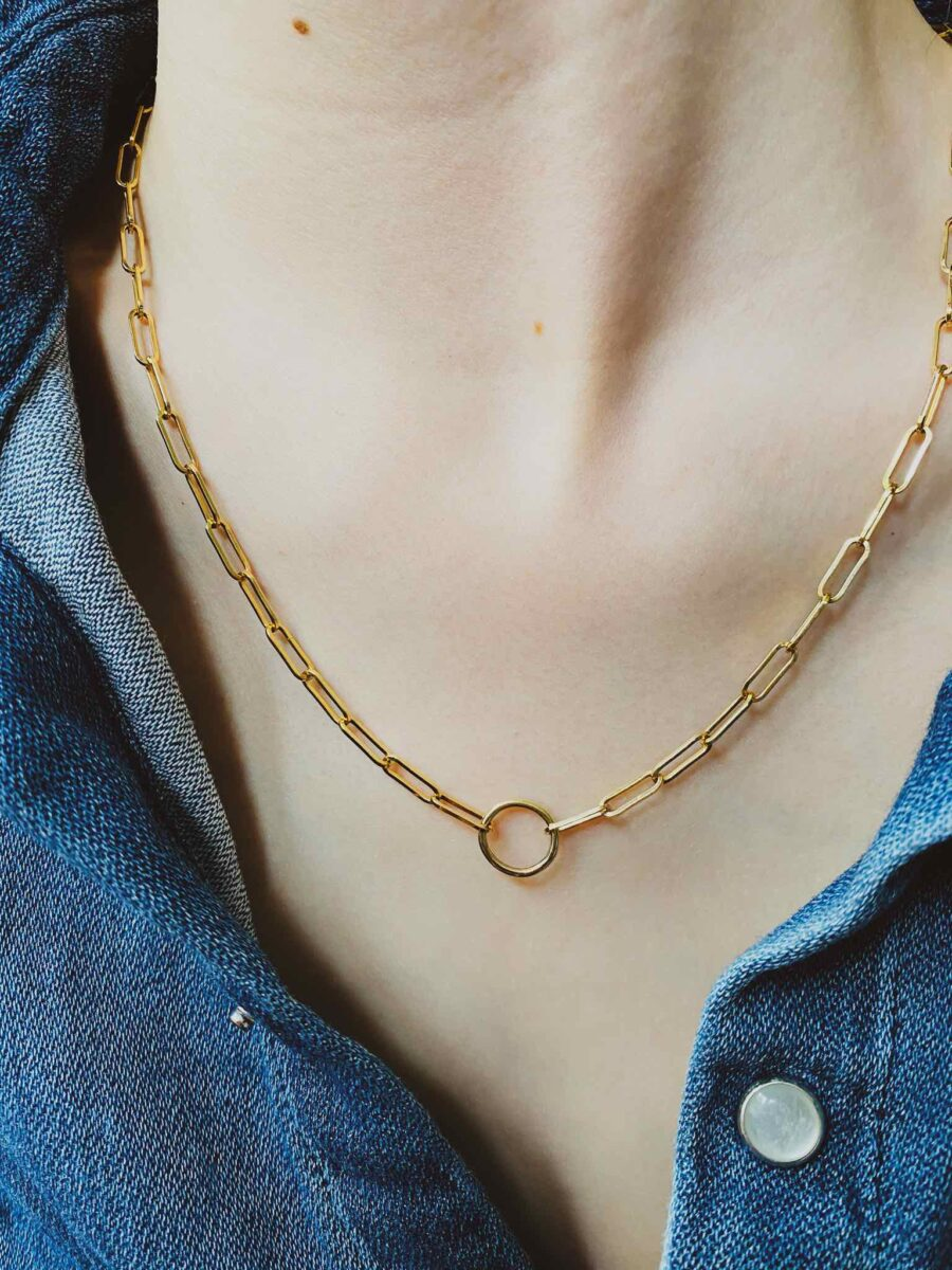 The Solid Gold Paperclip and Circle Chain