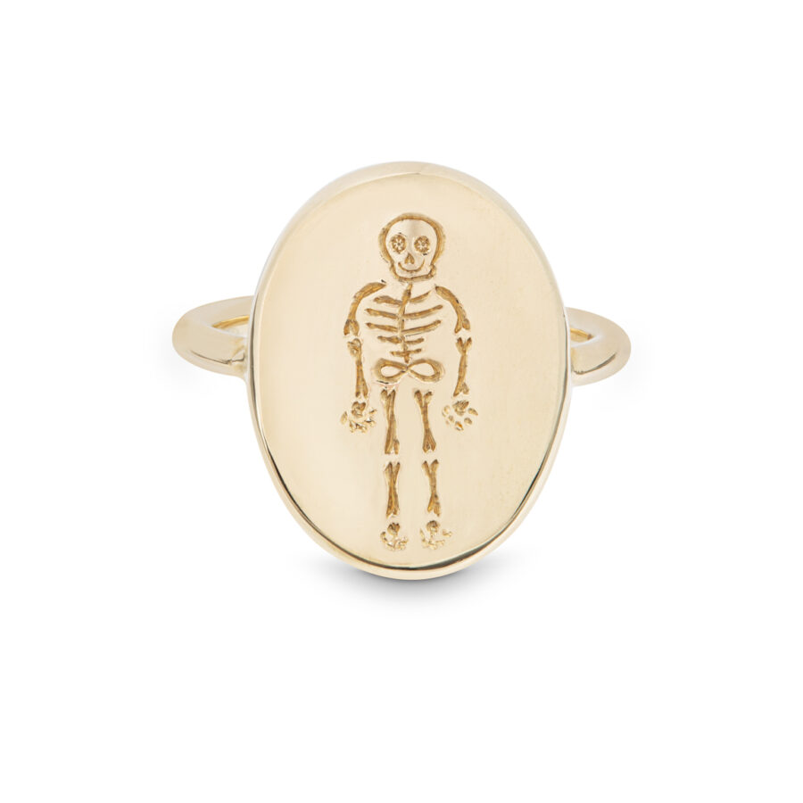 'I Love The Bones Of You' Pebble Ring